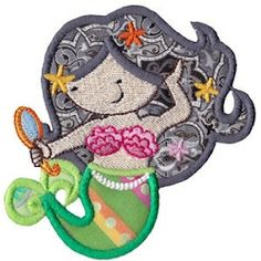 Magical Mermaids 2 Applique, SWAK Pack - 2 Sizes! | Featured Products | Machine Embroidery Designs | SWAKembroidery.com Bunnycup Embroidery