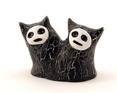 Polymer Clay Monster Figurine Sculpture with Two Heads. $26.00, via Etsy.