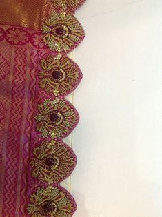 Saree Tassels Designs, Saree Kuchu Designs, Saree Blouse Neck Designs, Bridal Blouse Designs, Embroidery Suits Design, Embroidery Dress, Beaded Embroidery, South Indian Bridal Jewellery, Maggam Work Designs