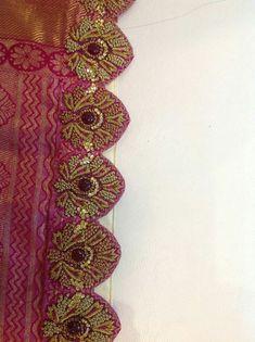 Saree Kuchu New Designs, Saree Tassels Designs, Saree Blouse Neck Designs, Kurta Neck Design, Bridal Blouse Designs, Sara Fashion, Maggam Work Designs, Embroidery Suits Design, Designer Blouse Patterns