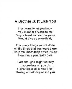 Birthday Happy Brother From Sister Love Quotes Best Ideas Brother Poems From Sister, Brother Sister Love Quotes, Birthday Wishes For Brother, Brother And Sister Love, Sister Birthday Quotes, Daughter Poems, Birthday Caption For Brother, Caption For Brothers, Sister Prayer