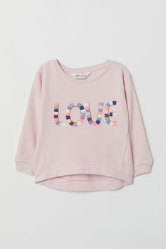 Sweatshirt with Motif - Light pink/Love - Kids Girl Outfits, Cute Outfits, Fashion Outfits, Toddler Fashion, Kids Fashion, Comfy Hoodies, Sweatshirts, Girls Sleepwear, Relaxed Outfit