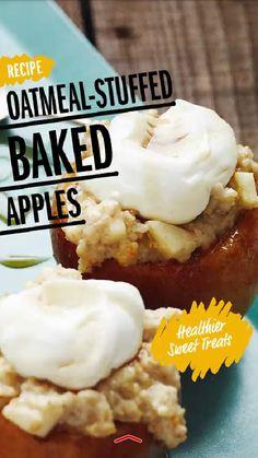 Oatmeal stuffed baked apples