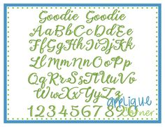 Goodie Goodie Embroidery Font