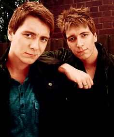 James & Oliver Phelps.. Also known as Fred & George Weasley from Harry Potter..There my absolute favorite characters from Harry Potter. lol :)