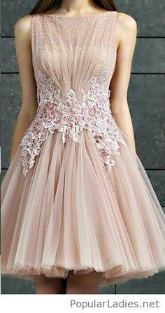 Simple nude dress with a lace detail
