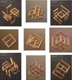 wooden sculpture | Cubic Sculpture 2