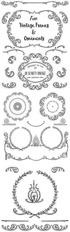 Stock Illustrations - Elegant Vintage Frames & Ornaments - http://vintagegraphics.ohsonifty.com/stock-illustrations-elegant-vintage-frames-ornaments/