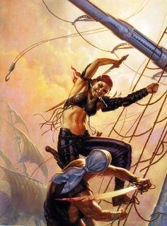Daring pirate chick