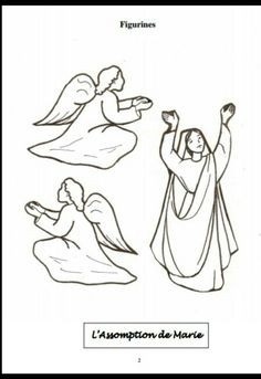 La asunción figuras Bible Coloring Pages, Sunday School Crafts, Bible Crafts, Mother Mary, Madonna, Saints, Marvel, Drawings, Christmas Crafts