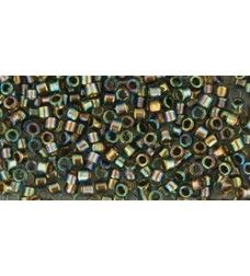 TT-01-999 Gold-Lined Rainbow Black Diamond TOHO Treasures Seemnehelmed.  Treasures ( Cylinder Beads ) TOHO of the size 12/0 are usually used in the handmade production jewelry for women and as also other handwork. These are ideal for loom work and weaving due to the uniformity and large holes.
