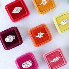 I LOVE these velvet heirloom ring boxes by the_mrs_box.  They come in all colours.