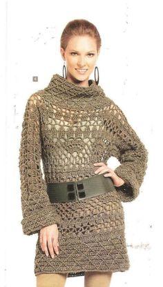 Patrones Crochet: Jersey Tunica Patron