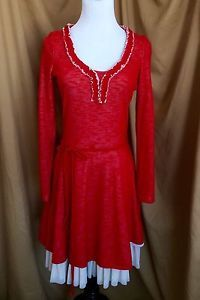 NICK & MO ModCloth Style Sweater Red Dress Size Small S