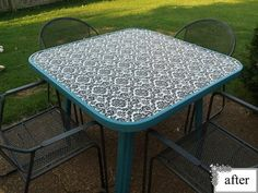 Outdoor Glass table re-do project - so easy!