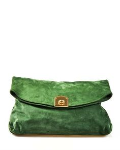 Sergio Rossi Solid Color Flap Suede Clutch Made in Italy ClutchBags   Handbags. Teresa Herbertz · Bags e15142ff7ed70