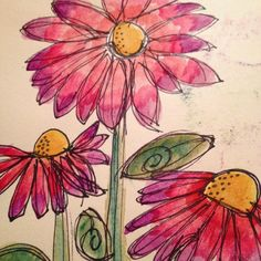 #flowers #watercolor #sharpie #junkjournal #artjournal #artjournalingforbeginners #colorful