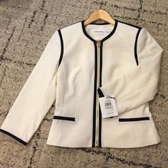 Calvin Klein. Jacket Never worn. Clean cut jacket perfect for work! Calvin Klein Jackets & Coats