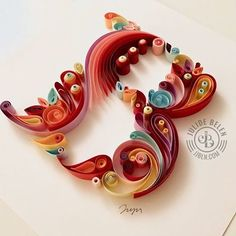 The trilogy is complete. On to the next project that awaits me. Is super busy on my end these days. Hope you are enjoying the overload of paper typography. Happy weekend everyone! . . . . . ©julidebelen. All rights reserved and recreation without permission is prohibited. #jjbln #julidebelen Neli Quilling, Quilling Craft, Quilling Patterns, Paper Quilling, Quilling Ideas, Quiling Paper Art, Arts And Crafts, Paper Crafts, Diy Artwork