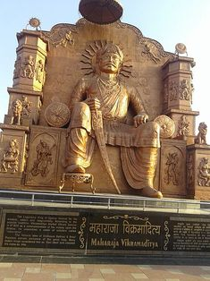 Statue of Vikramaditya in Ujjain King Of India, Indian Temple Architecture, Great Warriors, The Mahabharata, Old King, Vedic Mantras, History Of India, Great King, India Tour