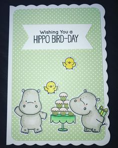 #cantstopcrafting #HappyHippos #mftstamps #birthdaycard