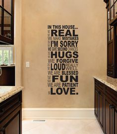 Dailinming family wall quotes In This House Vinyl wall stickers home decor decals Home & Kitchen Wall Stickers Home Decor, Vinyl Wall Stickers, Vinyl Wall Art, Wall Decal Sticker, Family Wall Quotes, Family Rules, In This House We, Through The Looking Glass, Great Quotes