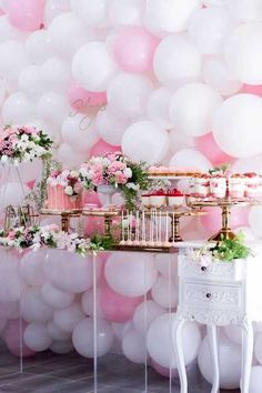 Mariage rose et blanc