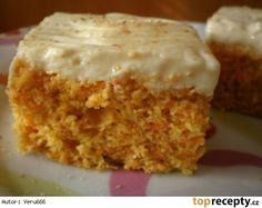 Vynikající mrkvové řezy Czech Recipes, Ethnic Recipes, Sweet Cakes, Carrot Cake, Vanilla Cake, Baking Recipes, Sweet Recipes, Sweet Tooth, Food And Drink