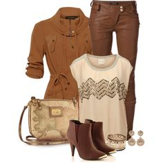 """""""Caramel Coat"""" by quirkyoak on Polyvore"""