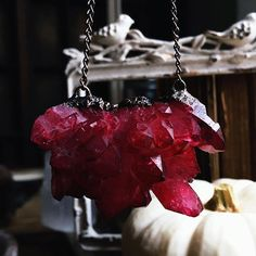 Ruby aura Crystal necklace by Sacraluna