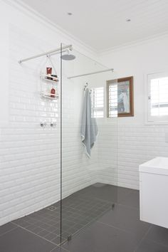 A big benefit of IsoBoard Thermal Insulation: The board is effectively waterproof and it doesn't support mould growth, making it a perfect ceiling solution for bathrooms. #isoboard #isopine #isoceiling #waterproofceiling #bathroomceiling #ceilingsforbathrooms #bathroomdesign #bathroomremodel #bathroommakeover #bathrooms #showers #whitebathroom #tongueandgrooveceilings Tongue And Groove, Thermal Insulation, White Bathroom, New Construction, Ceilings, Showers, Benefit, Bathrooms, Big