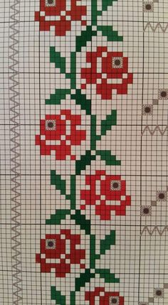 "Punto en cruz ""This post was discovered by neş"", ""Discover thousands of images about"" Cross Stitch Bookmarks, Cross Stitch Rose, Cross Stitch Borders, Cross Stitch Flowers, Cross Stitch Designs, Cross Stitching, Cross Stitch Embroidery, Cross Stitch Patterns, Hand Embroidery Designs"