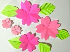kimie gangiの 春の壁面掲示「飛び出す桜の立体掲示」3D POP UP SAKURA - YouTube