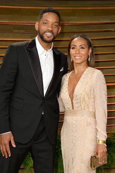 Will Smith and Jada Pinkett Smith attended the Vanity Fair Oscars party.