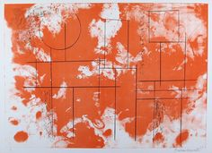 Barbara Hepworth: Itea, from the Aegean Suite (1971) lithograph in red and black