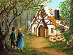 Veruschka Guerra - Ilustração: Contos de Grimm - João e Maria Pohádkové Domy, Ilustrace, Dětství, Obrázky