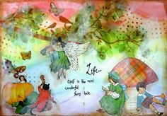 scrappin it: Mixed Media Art Journal page: Fairytale