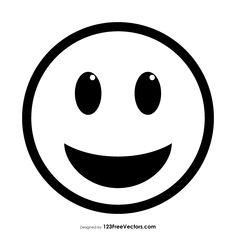 Grinning Face with Big Eyes Emoji Outline Big Eyes Emoji, Emoji Coloring Pages, Kawaii Girl Drawings, Fru Fru, Different Emotions, Celebrity Drawings, Black And White Design, Emoticon, String Art