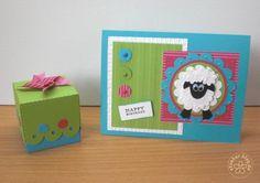 stampin up, cards, box, sheep