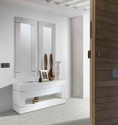 CH DESIGN - Espejos Modernos - DUO Blanco (130x50) - iBERGADA: Amazon.es: Hogar