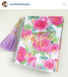 Personalized planner covers for Erin Condren and Happy Planners! https://www.etsy.com/listing/262053990/new-erin-condren-cover-happy-planner