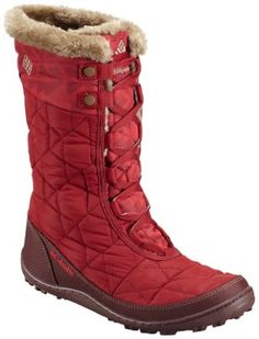 Winter toes will be toasty warm in these great Columbia Boots Women's Minx™ Mid II Omni-Heat™ Print - Red Dahlia, Oxford Tan - 1566941 Warm Winter Boots, Winter Gear, Minimalist Shoes, Columbia Sportswear, Snow Boots, Encouragement Ideas, Maine Winter, Columbia Boots, Faux Fur