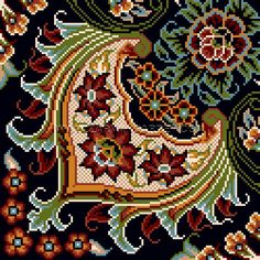 8 color - 1000 compression - 1000 knot line Cross Stitch Embroidery, Cross Stitch Patterns, City Photo, Miniatures, Bag, Color, Color Combos, Floral, Rugs