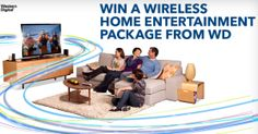 Win a Wireless Home Entertianment Package from Western Digital