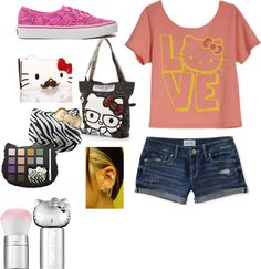 """""""Hello kitty outfit"""" by myawilson26 ❤ liked on Polyvore"""