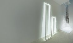 FRAME by INARCHI: Suspended, open aluminium frames with high-performance LED lights.
