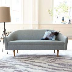 Billie Tightback Sofa, Yarn Dyed Linen Weave, Dusty Blush