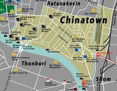 bangkok thailand attractions map chinatown   ... Town Map Bangkok Maps Bangkok Shopping Map Hua Hin Map Thailand Maps