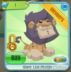 Diamond Shop, The Claw, Animal Jam, Plushies, Lion, Family Guy, Animals, Fictional Characters, Art