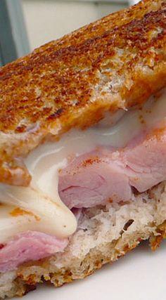 Sundried Tomato Grilled Ham & Fontina Sandwich